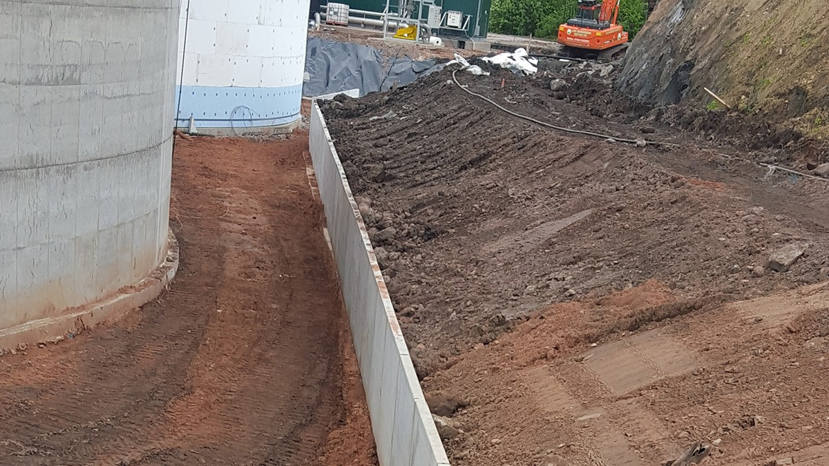 precast concrete wall unit at BayWa.r.e Plant