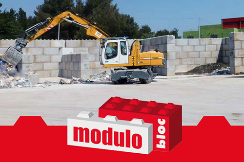 Precast modulo retaining wall blocks