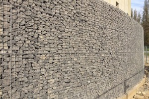 Stone box gabion retaining walls