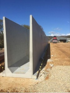 silage clamps retaining walls