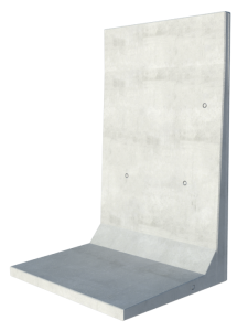 L-Shaped Precast Concrete Retaining Wall